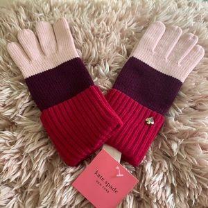 🆕Kate Spade color block gloves